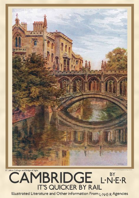 Cambridge University, St. John's & Bridge of Sighs Portrait